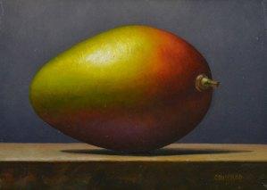 "Trish Coonrod ""Mango"" 5x7 oil/p $450."