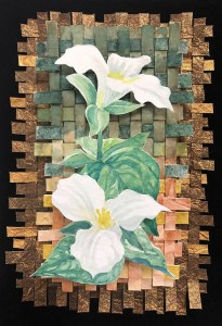 "Cynthia Cratsley ""Trillium"" 8x6 watercolor $130."