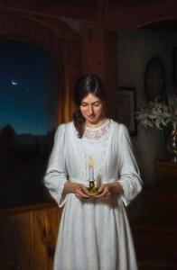 """Joseph Q. Daily """"Maria's Wish"""" 55x36 oil $14,000. Inquire"""