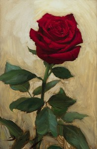 "Joseph Q. Daily ""Red Rose - Nov 2017"" 9x6 $800."
