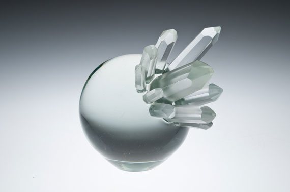 "Ross Delano ""Crystal Ball"" 7.5""x11"" glass $1,600. Inquire"