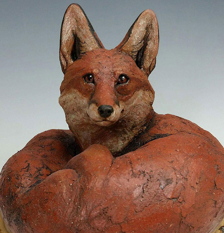"Carolyn Dilcher-Stutz ""Fox Sculpture"" SOLD"