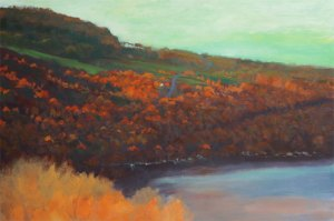 "Tom Gardner ""Autumn Evening"" 24x36 oil $2,600."