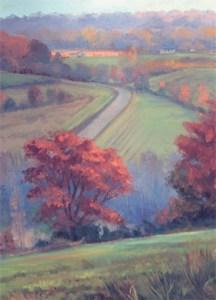 "Tom Gardner ""Country Road"" 24x18 oil $1800."