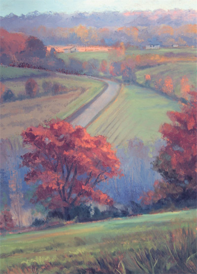 "Tom Gardner ""Country Road"" 24x18 oil $1800."
