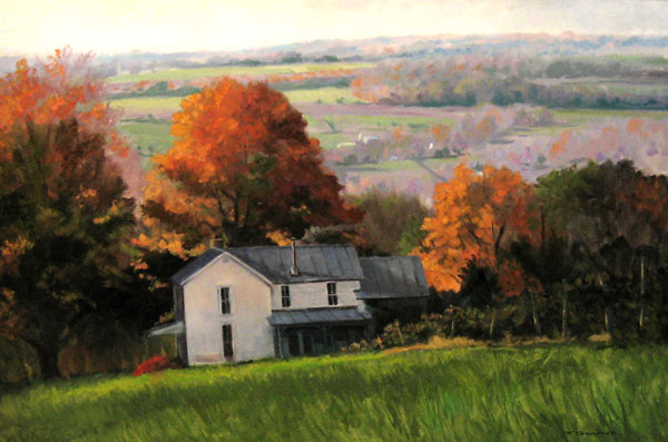 "Tom Gardner ""Early Autumn, Keuka"" 24x36 oil $2,600."