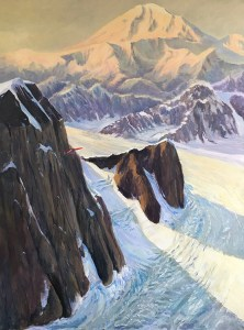 "Tom Gardner ""Final Approach - Mt. McKinley"" 36x48 oil $4,400."