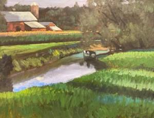 "Tom Gardner ""Latta Brook Farm"" 16x20 oil $1,400."