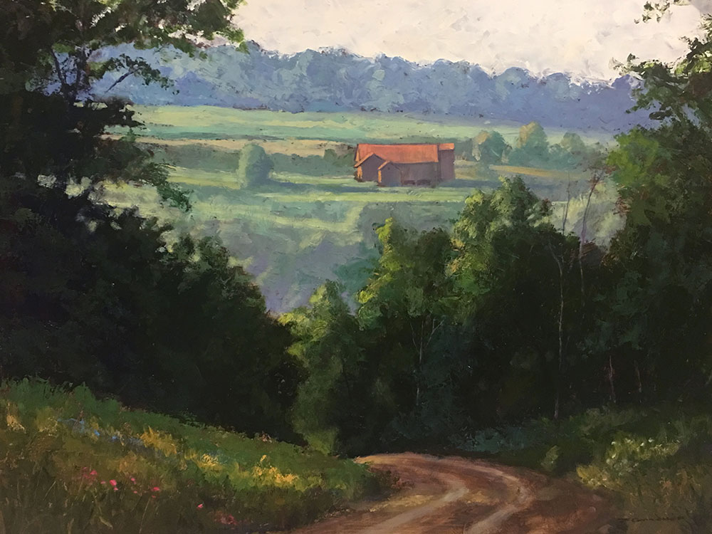 "Tom Gardner ""Mintz Barn"" 24x30 oil $2,200."