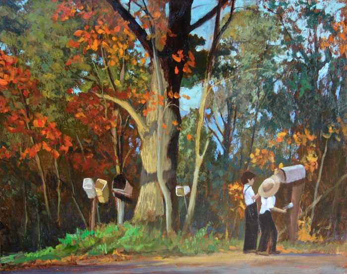 "Tom Gardner ""Rural Delivery"" 24x30 oil $2,200."