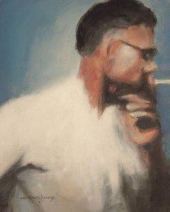 """Edd Tokarz Harnas """"Walked a Mile"""" 10x8 pencil/acrylic on canvas $170."""