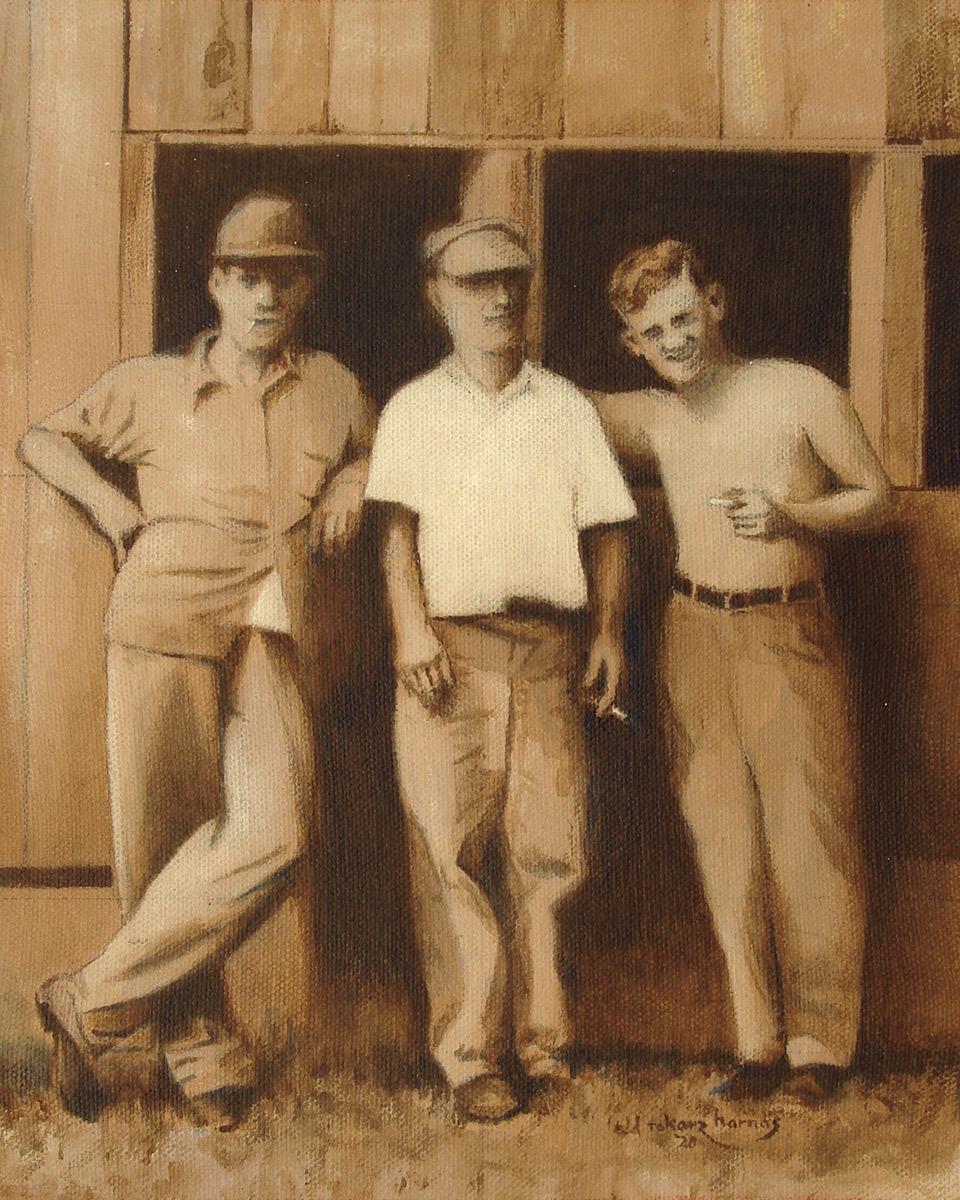 "Edd Tokarz Harnas ""Watkins Glen"" 10x8 pencil/acrylic on gallery wrapped canvas $170. SOLD"