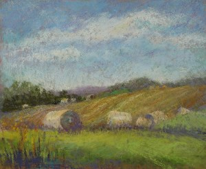"Linda Hansee ""After Haying"" pastel painting"