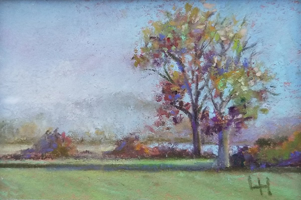 "Linda Hansee ""Autumn Light"" 2x3 pastel $150."
