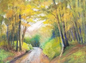 """Linda Hansee """"The Road to Bellinger Hollow"""" 9x12 pastel $395."""