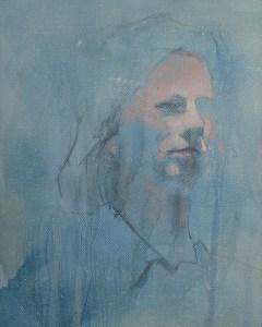 "Edd Tokarz Harnas ""Cult of the Urban Sophisticate"" 10x8 pencil/acrylic on canvas $170."