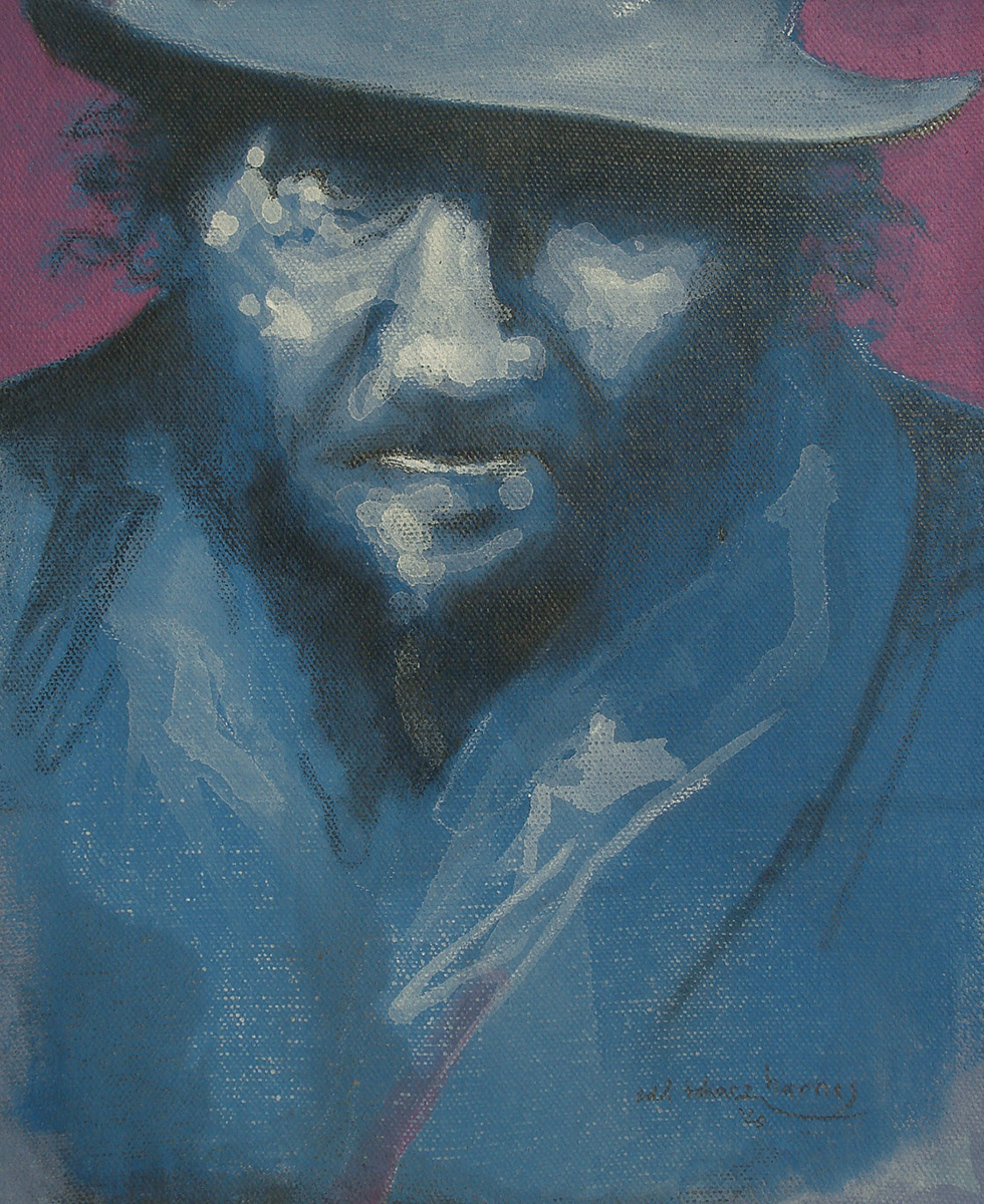"Edd Tokarz Harnas ""Tegit"" 10x8 pencil/acrylic on gallery wrapped canvas $170. SOLD"
