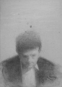 "Edd Tokarz Harnas ""The American Moneychanger"" 7x5 pencil/acrylic $80."