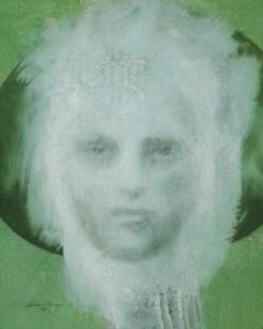 "Edd Tokarz Harnas ""The Arnis Apparition - Return of Siobhan"" 10x8 pencil/acrylic on canvas $170."