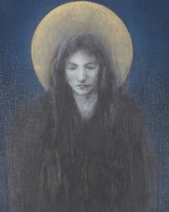 """Edd Tokarz Harnas """"Weeping Angel"""" 10x8 pencil/acrylic on canvas $170."""
