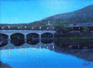 "Brian Hart ""Corning Lights"" 12x16 acrylic $1,075."