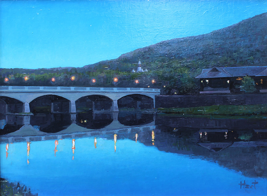 "Brian Hart ""Corning Lights"" 12x16 acrylic $1,075. SOLD"