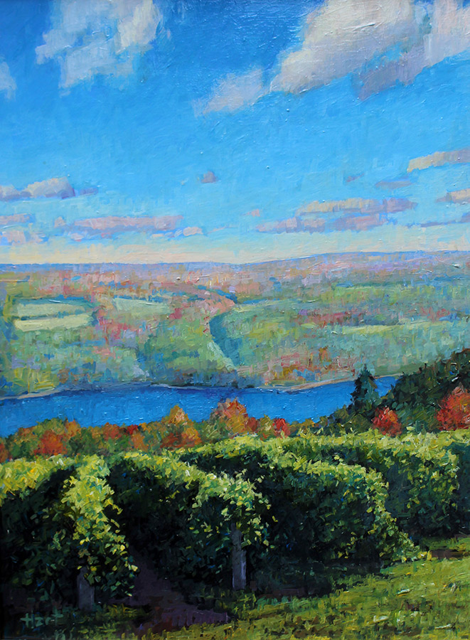 "Brian Hart ""View from Bully Hill"" 12x16 acrylic $1,110."