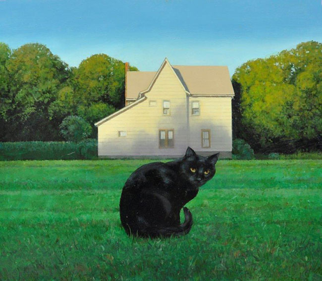 "David Higgins ""Cat"" 21x24 oil $1,600."