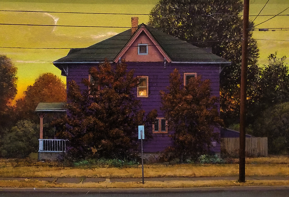 "David Higgins ""House on Spaulding Street"" 16x23 oil $2,000. SOLD"