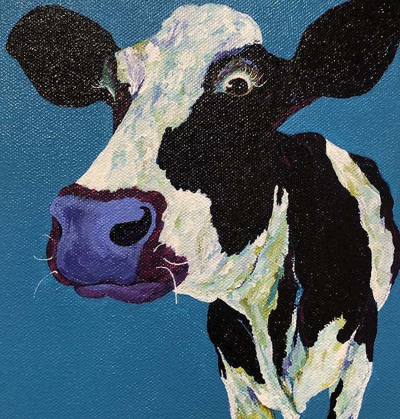 """Amy Hutto """"Call Me"""" 8x8 acrylic $235. gallery wrap"""
