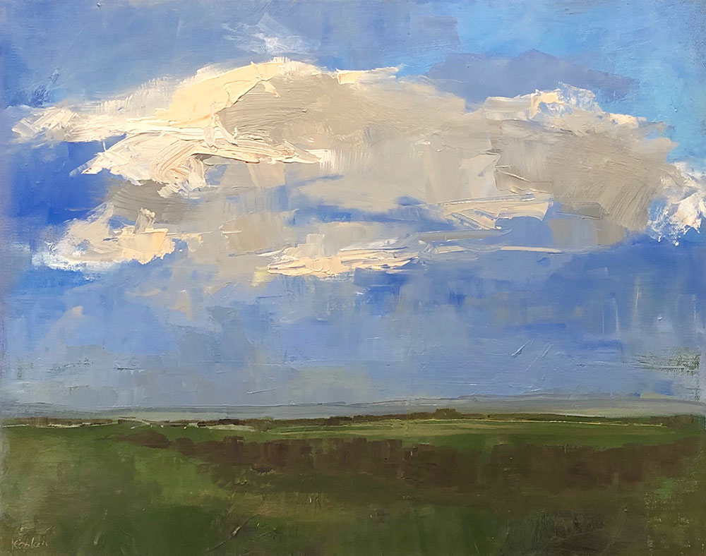 "Ileen Kaplan ""Afternoon Clouds"" 16x20 oil $900."