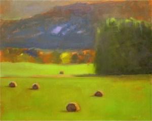 """Ileen Kaplan """"Autumn Hay"""" 16x20 oil $800."""