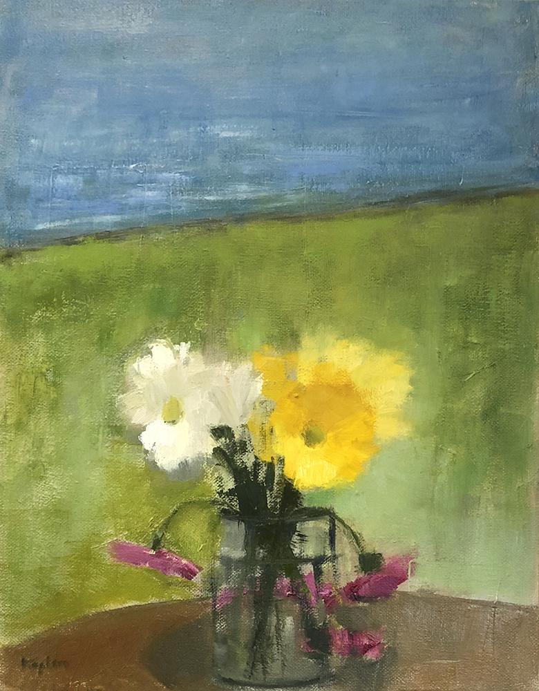"Ileen Kaplan ""Bouquet by the Lake"" 14x11 oil $585."