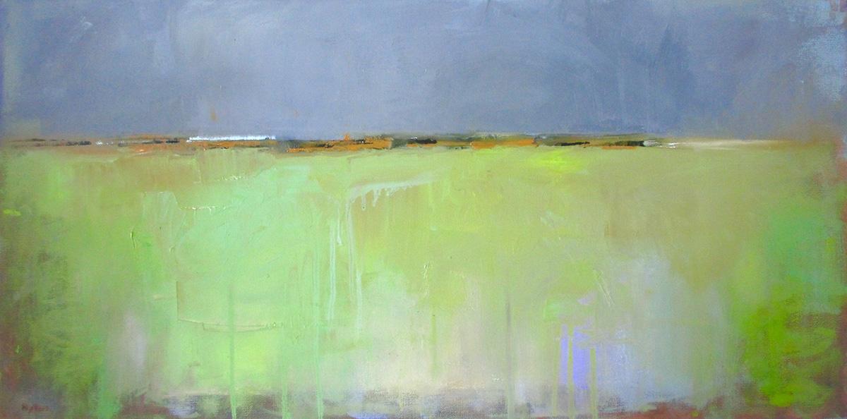 """Ileen Kaplan """"Fields of Green"""" 15x30 oil $1,050. SOLD"""