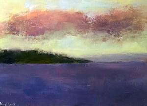 """Ileen Kaplan """"Keuka Lake with Clouds"""" 5x7 oil $290. SOLD"""
