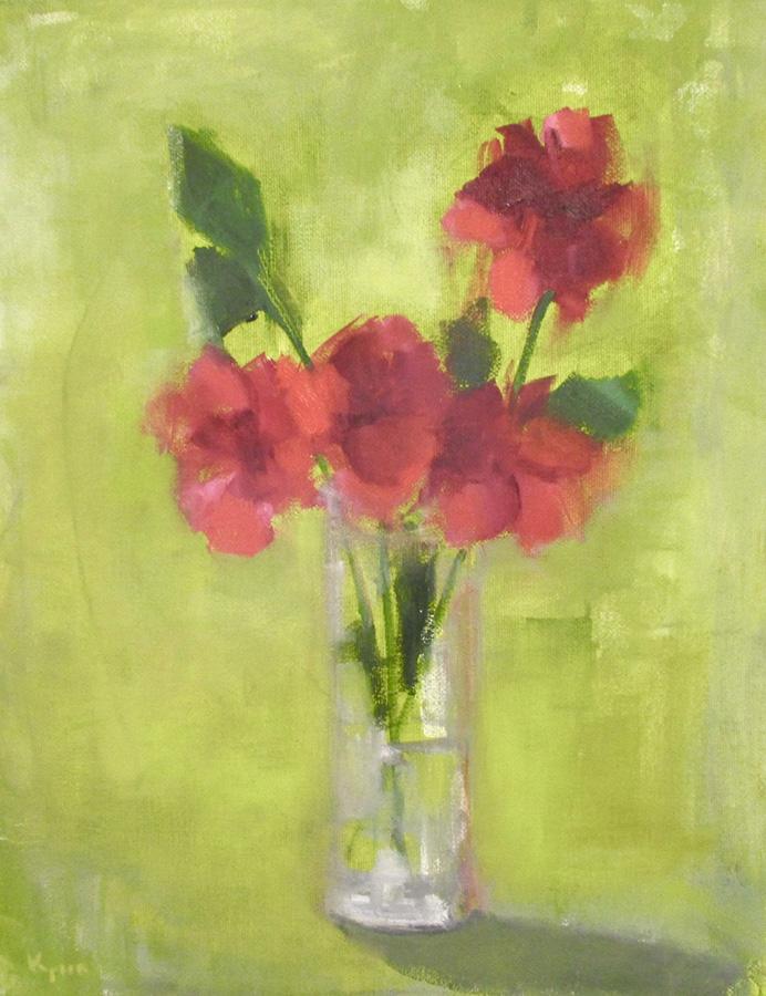 """Ileen Kaplan """"Red Bouquet"""" 14x11 oil $585."""