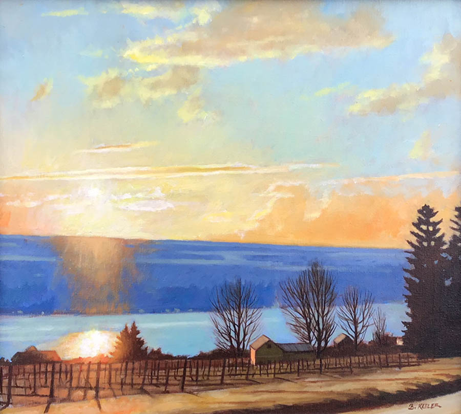 "Brian Keeler ""April Gold"" 18x20 oil $1,600."