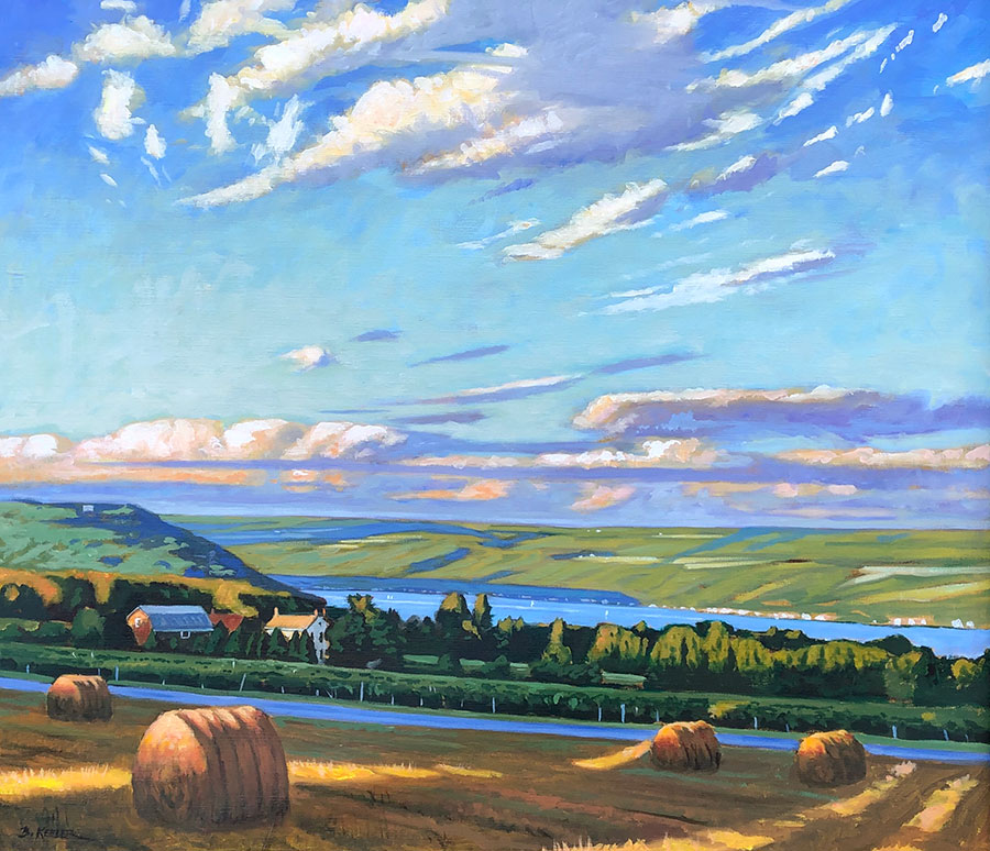 "Brian Keeler ""August Afternoon Light - Keuka"" 26x30 oil/linen $2,800."
