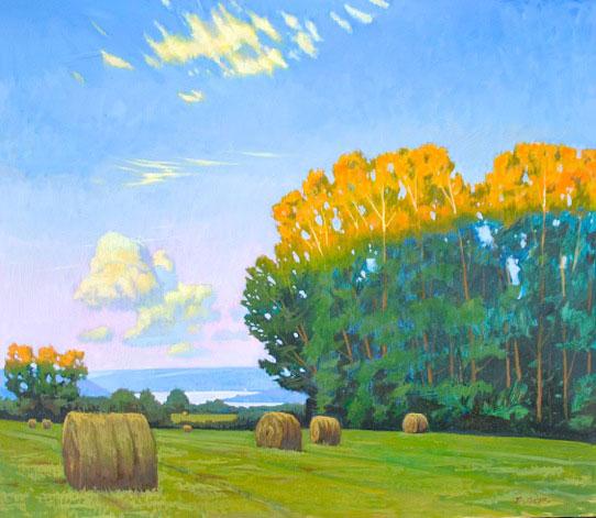 "Brian Keeler ""Edge of Light, Keuka Lake"" 26x30 oil $2,800. SOLD"