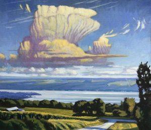 "Brian Keeler ""Keuka July Clouds"" 26x30 oil $2,800."
