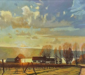 "Brian Keeler ""October Seneca Gold - Burdett, NY"" 26x30 oil/linen $2,800. Inquire*"
