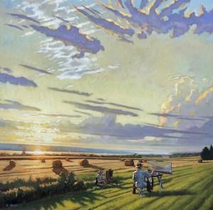"Brian Keeler ""Under Seneca Skies"" 44x44 oil/linen $8,400. Inquire*"