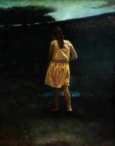 "Joseph A. Miller ""The Storm"" 36x28 oil/panel $1,400."