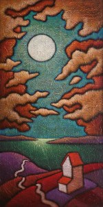 """GC Myers """"And the Glimmer Comes..."""" 48x24 acrylic/canvas $ Inquire"""