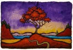 """GC Myers """"Come Days of Color"""" 4x6 acrylic/paper $ Inquire"""