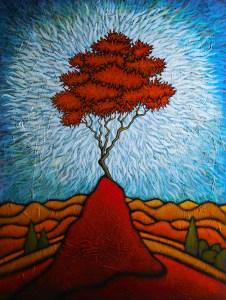 "GC Myers ""Corona"" 48x36 acrylic/canvas $ Inquire"