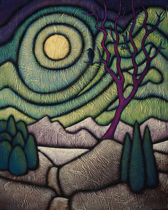"GC Myers ""Eyes of Night"" 16x20 acrylic/canvas $ Inquire SOLD"