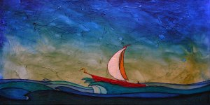 "GC Myers ""In the Hands of the Sea"" 12x24 acrylic/canvas SOLD"