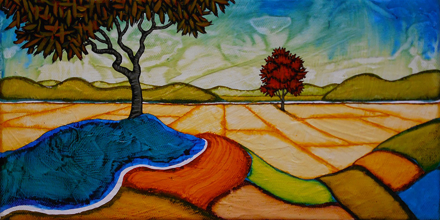 "GC Myers ""Lonesome Valley"" 6x12 acrylic/canvas SOLD"