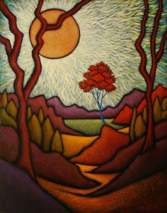 "GC Myers ""Nearing Journey's End"" 28x22 acrylic/canvas $ Inquire"